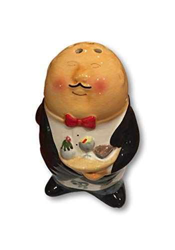 (Parmesan Cheese Shaker Novelty Bistro Waiter Hand-Painted Ceramic Cheese Shaker 6 Inches)