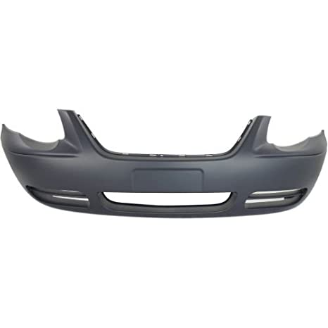 Front Bumper Cover For Town /& Country 05-07 w//o Fog Light Holes Primed Plastic