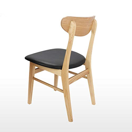 VIKICHY Solid Wood Dining Chair, Household Restaurant Chair, Book Table and Chair