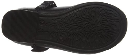Clarks Mädchen Dolly Babe Inf Low-Top Schwarz (Black Leather)