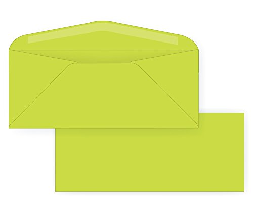 Lime Green Envelopes (#10 Regular Envelope - Astrobright - 24# Terra Green (4 1/8 x 9 1/2) - Business Color Series (Box of 500))