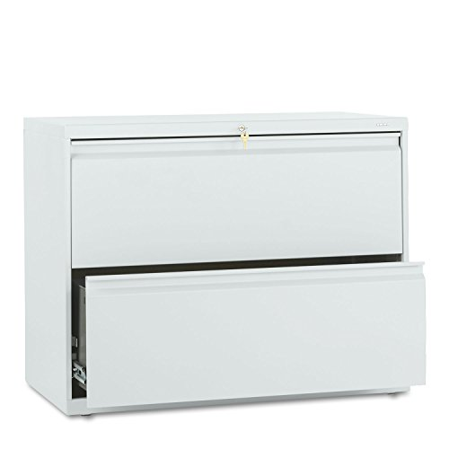 - HON 882LQ 800 Series Two-Drawer Lateral File, 36w x 19-1/4d x 28-3/8h, Light Gray