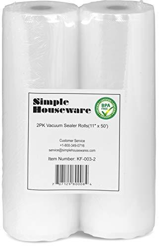 """2 Pack - SimpleHouseware 11"""" x 50 Feet Vacuum"""