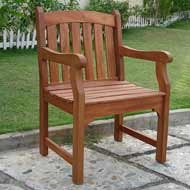 Vifah Ward Armchair in Eucalyptus Grandis Hardwood
