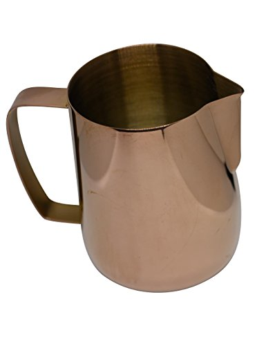 Latte Art | Stainless Steel Milk Frothing Pitcher Rose Gold 20 oz Titanium Mirror Finish by BaristaSwag