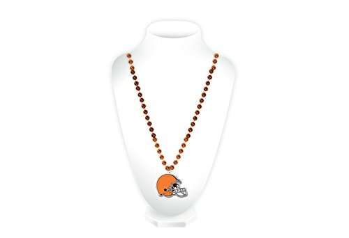 Cleveland Costumes (NFL Cleveland Browns Beads with Logo Medallion)