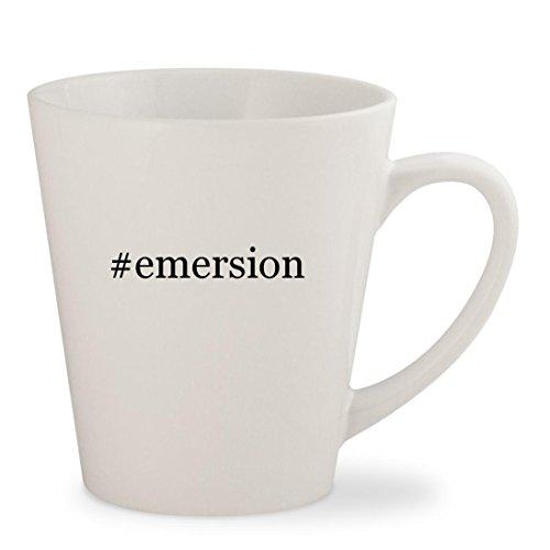 #emersion - White Hashtag 12oz Ceramic Latte Mug Cup