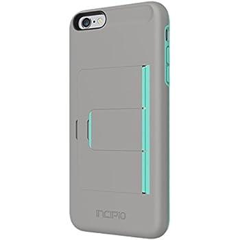 the latest e09c4 feca2 iPhone 6S Plus Case, Incipio Stowaway [Kickstand][Credit Card] Wallet Cover  fits iPhone 6 Plus, iPhone 6S Plus-Dark Gray/Teal