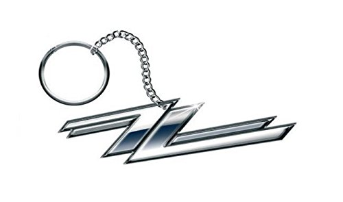Zz+Top+Keyring+Keychain+Twin+Z%27s+Band+Logo+Official+Metal