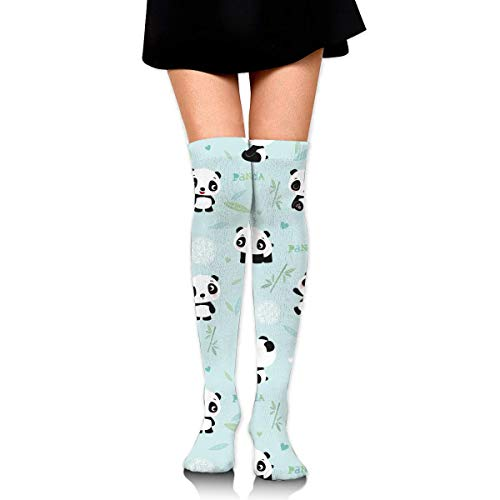 Women's Long Socks Cartoon Cute Panda Pattern Long Over Knee High Nursing Sock ()