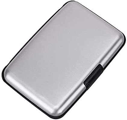 Aluminum Identity Protection Credit Card Case RFID Blocking Wallet White