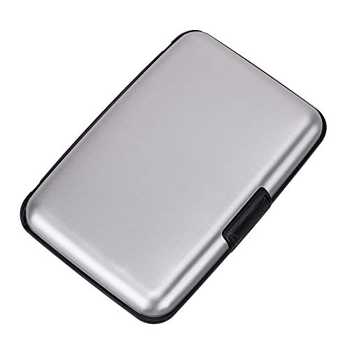 Elfish Mini RFID Aluminum Wallet Credit Cards Holder Metal ID Case for Men Women ()