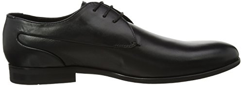 Hudson London Herren Alfred Oxfords Schwarz (Black)