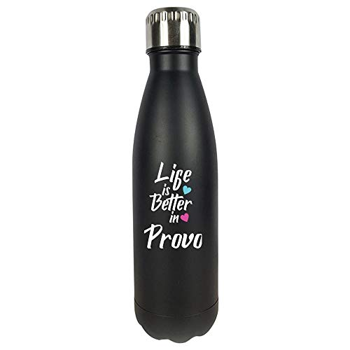 Life Is Better In Provo USA Pride - Vacuum Sealed Water Bottle (Best Hikes In Provo)