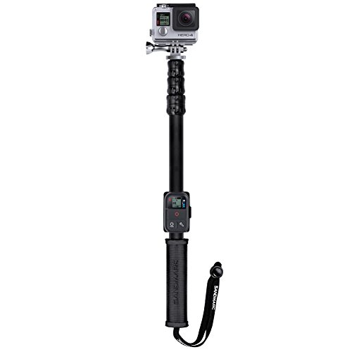 """SANDMARC Pole - Metal Edition: 15-50"""" Waterproof Extension Stick (Pole) for GoPro Hero 7, Osmo Action, Hero 6, Hero 5, Fusion, Session, Hero 4, 3+, 3, 2, and HD Cameras - with Remote Clip (Mount)"""