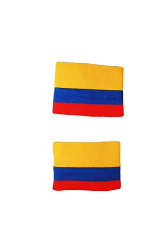 Colombia Country Flag - Colombia Country Flag High Quality Wristband Sweatband ... New
