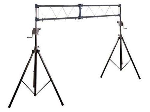 (Music Portable Aluminum Steel Lighting Audio Truss System Pro DJ 10 FT Portable Stage Crank Up 200 LBS Capacity - Skroutz)