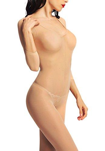 Long Sleeve Womens Bodystocking - 1