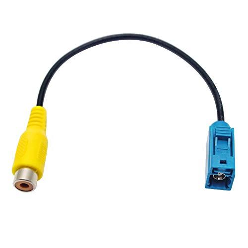 Lanlan Adaptador para cámara de Marcha atrás del Coche Conector de Cable RCA para Mercedes Ford OEM Radio Head Unit
