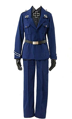 ZYHCOS Halloween Party Suit Navy Blue Outfits Uniform Cosplay Costume (Mens-S) -