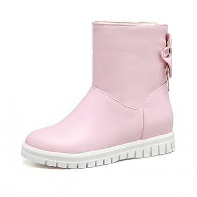 Women's Shoes Leatherette Spring Winter Fashion Boots Boots Wedge Heel Round Toe Booties/Ankle Boots Bowknot For Casual Office & Career blushing pink 5KUja