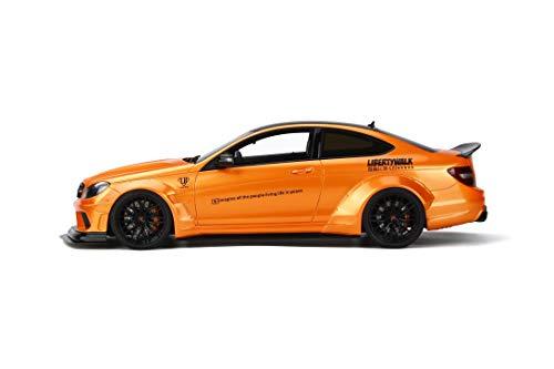 Mercedes Benz C63 LB Works Metallic Orange Black Top Limited Edition to 999 Pieces Worldwide 1/18 Model Car GT Spirit GT215