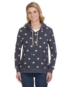 Alternative Women's Athletics Printed Hoodie Stars X-Large