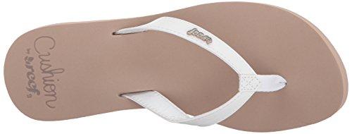 Mujer Blanc Lan Cushion Reef Luna Blanco para Sandalias xAn0Y7n