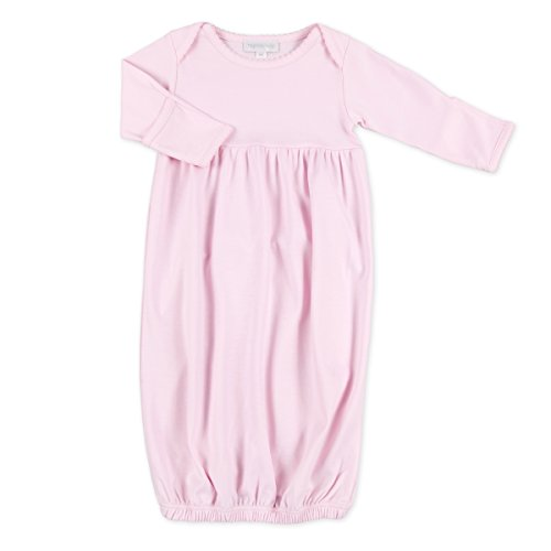 Magnolia Baby Baby Girl MB Essentials Gathered Style Gown Solid Pink Newborn