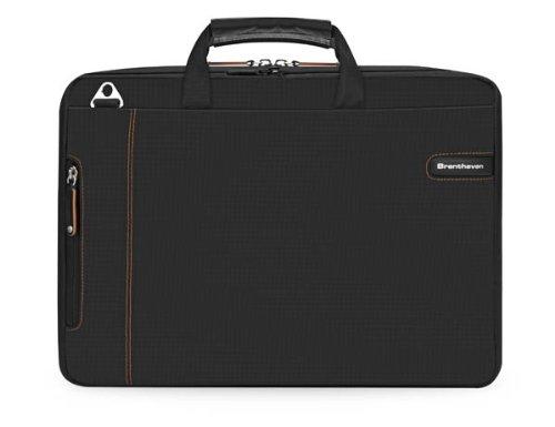 (Brenthaven 2159 ProStyle Lite Expandable Tablet / Laptop / Ultrabook Shoulder Case - Black)