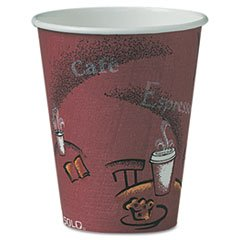 SCCOF8BI - Solo Bistro Design Hot Drink Cups, Paper, 8 Oz, Maroon