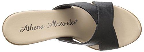Athena Alexander Kvinners Urne Kile Sandal Sort Skinn