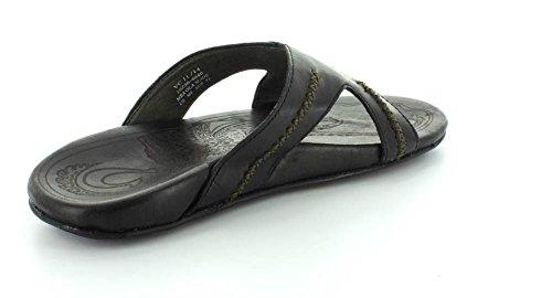 Olukai Menns Mea Ola Glide Sort / Sort Sandal 12 D (m)