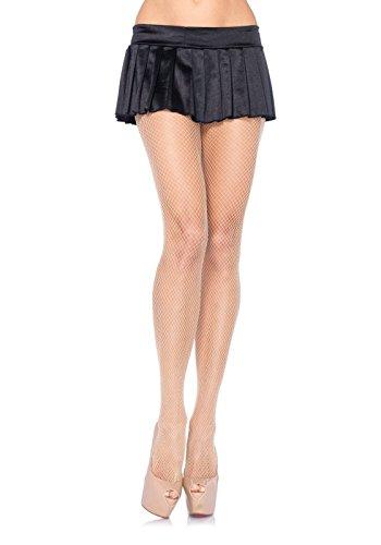 Leg Avenue Women's Nylon Fishnet Pantyhose Hosiery, Nude, One Size (Fancy Dress Free Delivery)