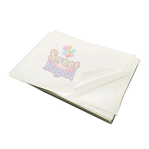 Chocolate Transfer Sheets (blank) - Pack of 25 Transfer Sheets (8.5'' X 11'') Choco Transfer Sheets unprinted by SWEET AND MAGICAL