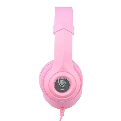 Darkiron N8 Headphones Headset with In-line Mic and Volume Control, Extremely Soft Ear Pad, Cute ...