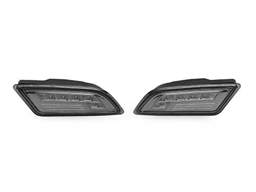 DEPO 2012-2014 Mercedes Benz W204 2D Coupe / 4D Sedan White LED Smoke Bumper Side Marker Light Set
