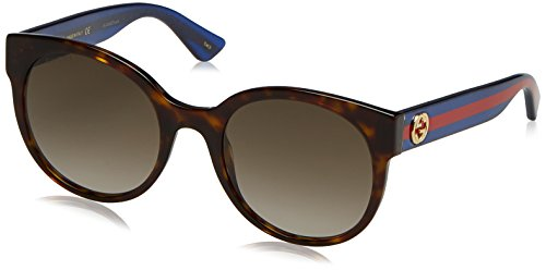 Gucci 0035S 004 Havana 0035S Round Sunglasses Lens Category 3 Size - Brown Gucci