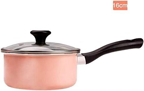 hei/ße Milch Suppe Multi-Funktions-Suppentopf mit Deckel Pulver 16cm 18cm AZHom Babynahrung zu erg/änzen Topf Maifan Stein Antihaft Size : 16cm