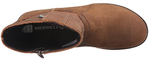 Merrell Ashland Vee Mid Waterproof Black Womens Boot Tan Merrell