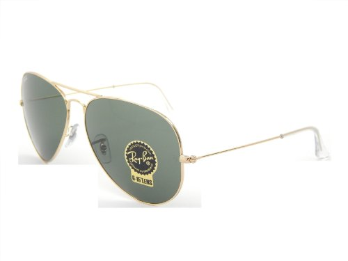 New Ray Ban Aviator RB3026 L2846 Arista/G-15 XLT Lens 62mm Sunglasses (Ray Ban G 15 Lens)
