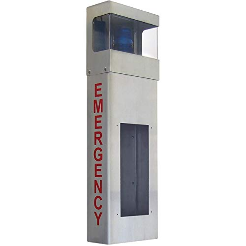 Aiphone Corporation is-WBHE Stainless Steel Emergency Wall Mount Boxes with Hood for is Series, Stainless Steel by Aiphone Corporation
