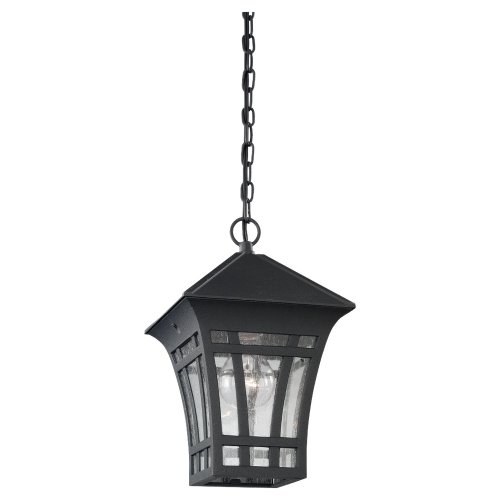 Lighting Outdoor Medium Pendant (Sea Gull Lighting 60131-12 Herrington Outdoor Fixture One Light Polished Brass Finish)