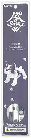 パイプロイド(PIPEROID) アニマルズ 犬 シリーズ フレンチブルドッグ - 小学生 から 大人まで 楽しめる 紙工作 クラフトキット - 折り紙 好きの 男の子や 女の子にも [並行輸入品]