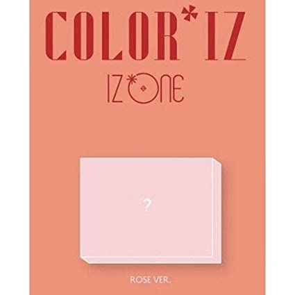 Amazon com: IZONE - [ColorIz] 1st Mini Album Rose VER CD+Poster+Book