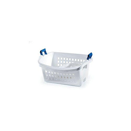 Rubbermaid Stack N' Sort Nesting Laundry Basket, White, Medium (FG292800WHT), 6 Pack