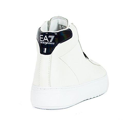 Emporio Armani EA7 Scarpe Sneakers Alte Uomo in Pelle Nuove Classic Fashion  bian  Amazon.it  Scarpe e borse a1647baa1ea