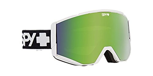Spy Optic Ace 310071396292 Snow Goggles, One Size (Matte White Frame/Bronze Green Yellow Lens)