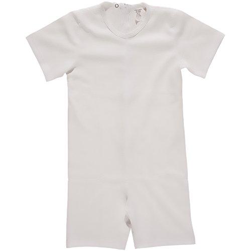 Benefit Wear Back Zipper One-Piece Onesies-Like Underwear White (XL (18))