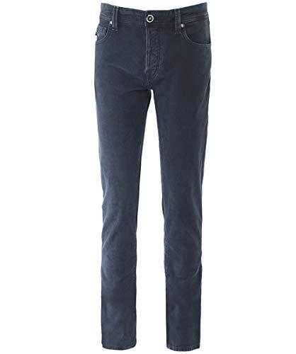 Tramarossa de Fino Ajuste Acero Acero Textura Hombres Jeans Leonardo xCOqZ